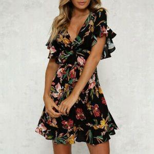 🆕 Boho Floral Mini Dress